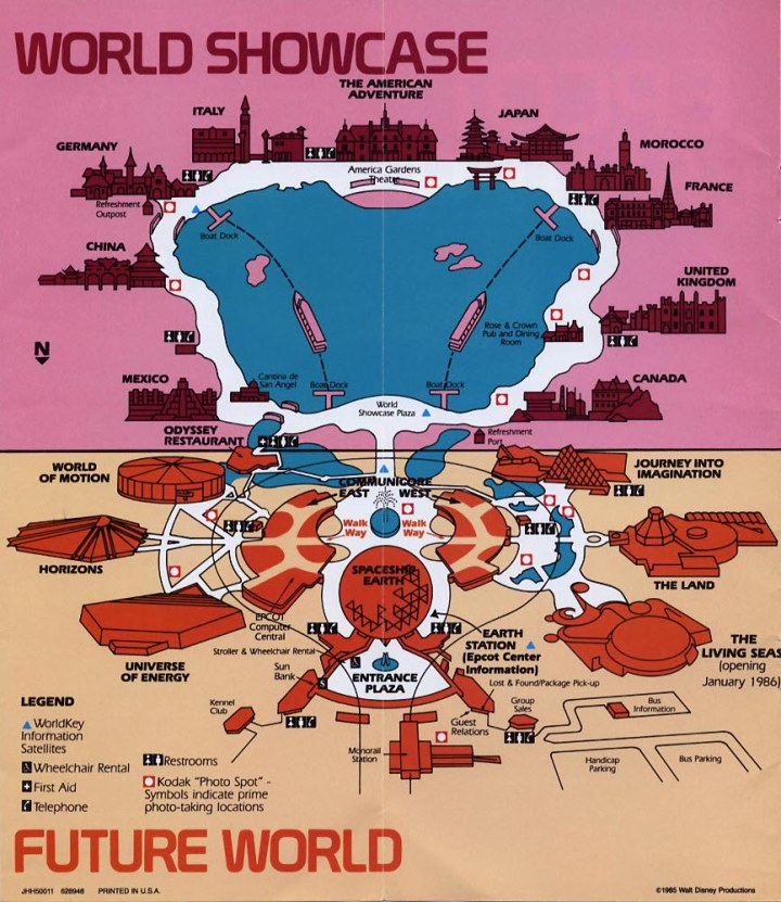 EPCOT 1985 Guidebook