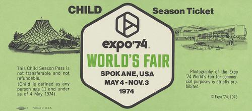 Expo 74 Ticket