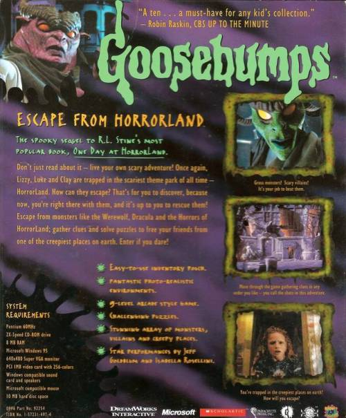 Escape From Horrorland Back
