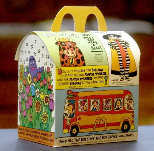 happy meal box
