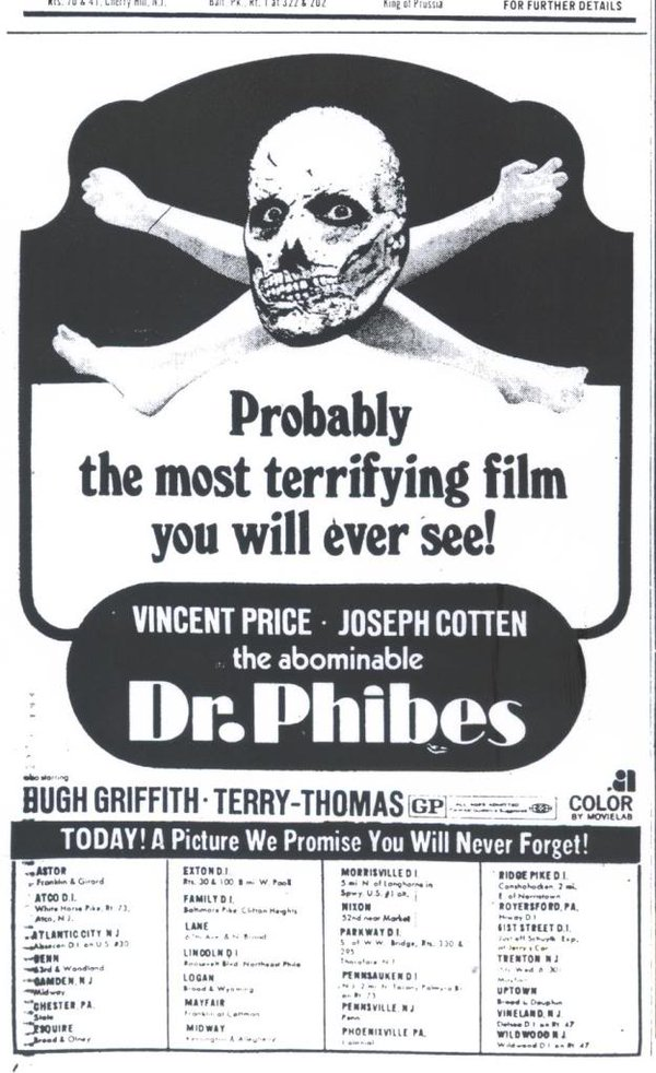 Dr Phibes Newspaper