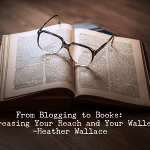 From Blogging to Books: Increasing Your Reach and Your Wallet
