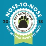 BlogPaws 2018 Nose-to-Nose Finalist
