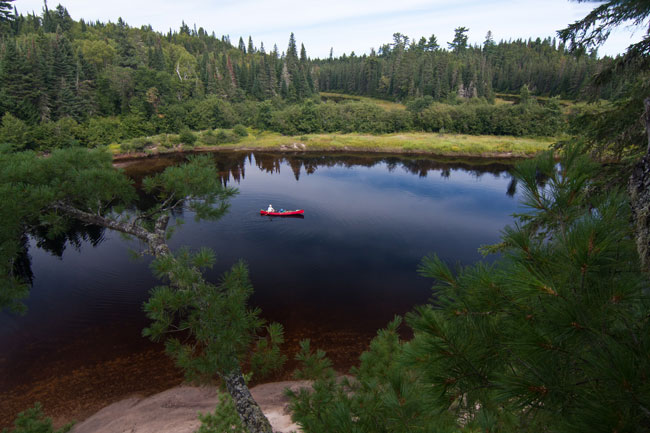 Quebec wilderness canoeing