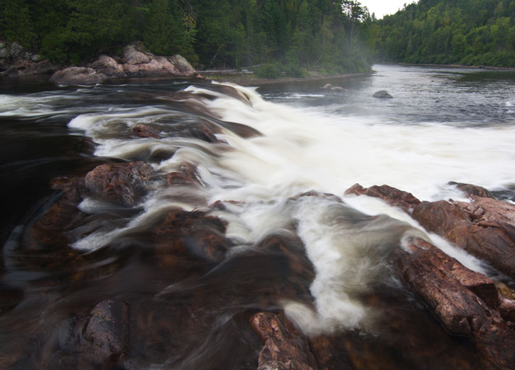 Waterfall on the Coulonge River, Quebec