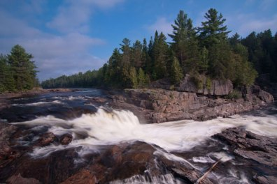 Wilderness waterfall, Coulonge River, Quebec