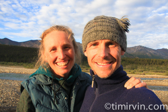 Heidi Braun and Tim Irvin smiling in the Yukon
