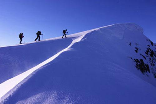 ski touring on Vancouver Island