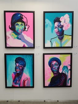 My latest series of jazz/soul singers. All sold on the first day! Aretha Franklin, Billie Holiday, Ella Fitzgerald, Nina Simone