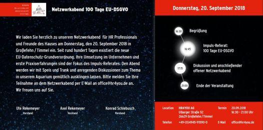 HR4YOU AG - Timmel - Netzwerkabend - 100 Tage EU-DSGVO
