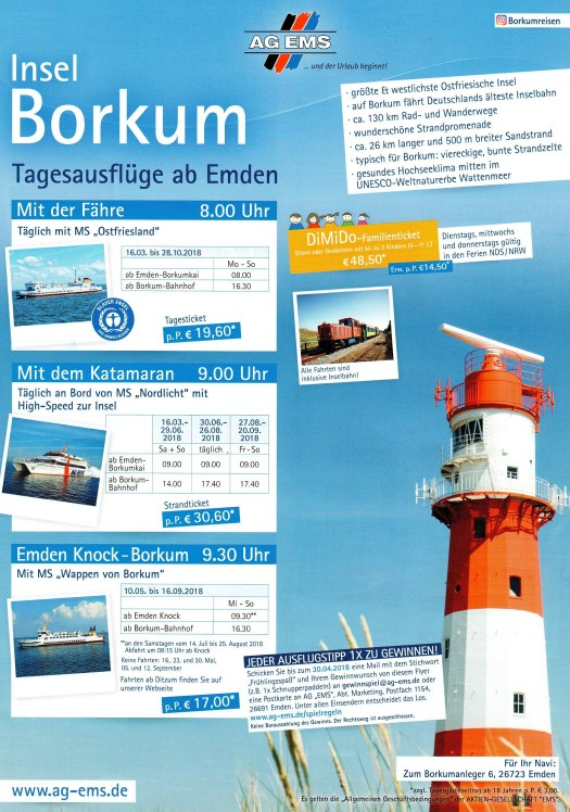 Insel Borkum Tagesausflüge