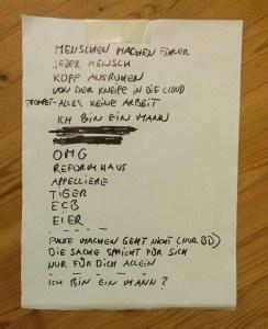 Setliste von Der Mann