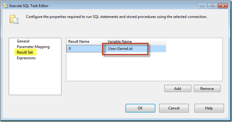 Using the SSIS Object Variable as a Result Set Enumerator