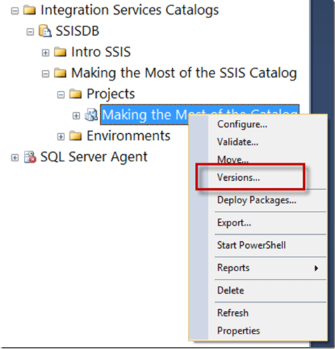 SSIS Catalog Project Versioning