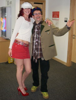 "The glamourous and gorgeous Joss Stone ""I love your shoes Timmy, in fact I love the whole of your outfit!"" Timmy replies ""I'm just happy to be the right height for you to lean on!"""
