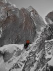 Great icy mixed climbing on the shady side of the Midi.