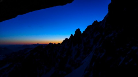 Grande Montets ridge...much anticipated sunrise