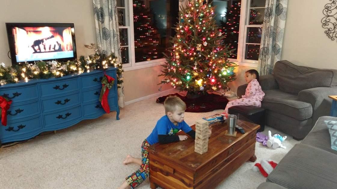 Christmas & Jenga