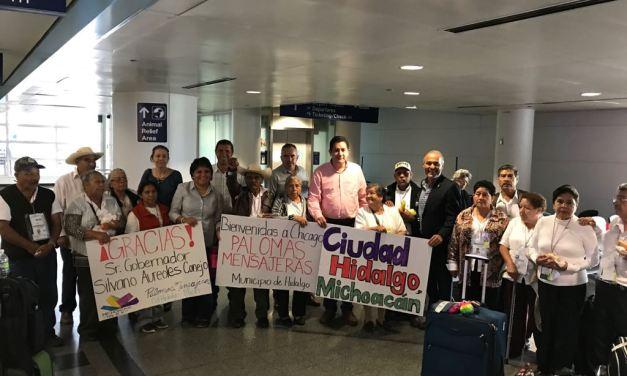 Palomas Mensajeras reúne a 35 hidalguenses con sus familias en Chicago