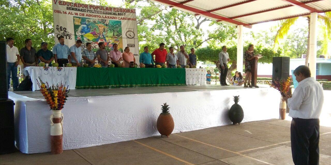 Concluye hoy V Seminario Político Sindical 2017, Coordinado por la CNTE-MICHOACÁN