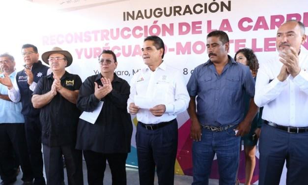 Inaugura Gobernador rehabilitación de la carretera Yurécuaro – Monteleón