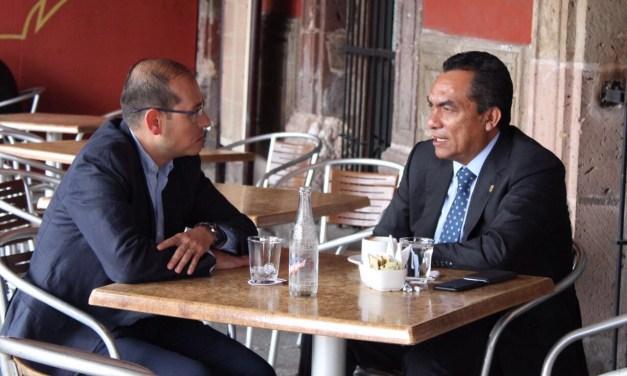 Se reúne Adrián López con el dirigente estatal del PAN