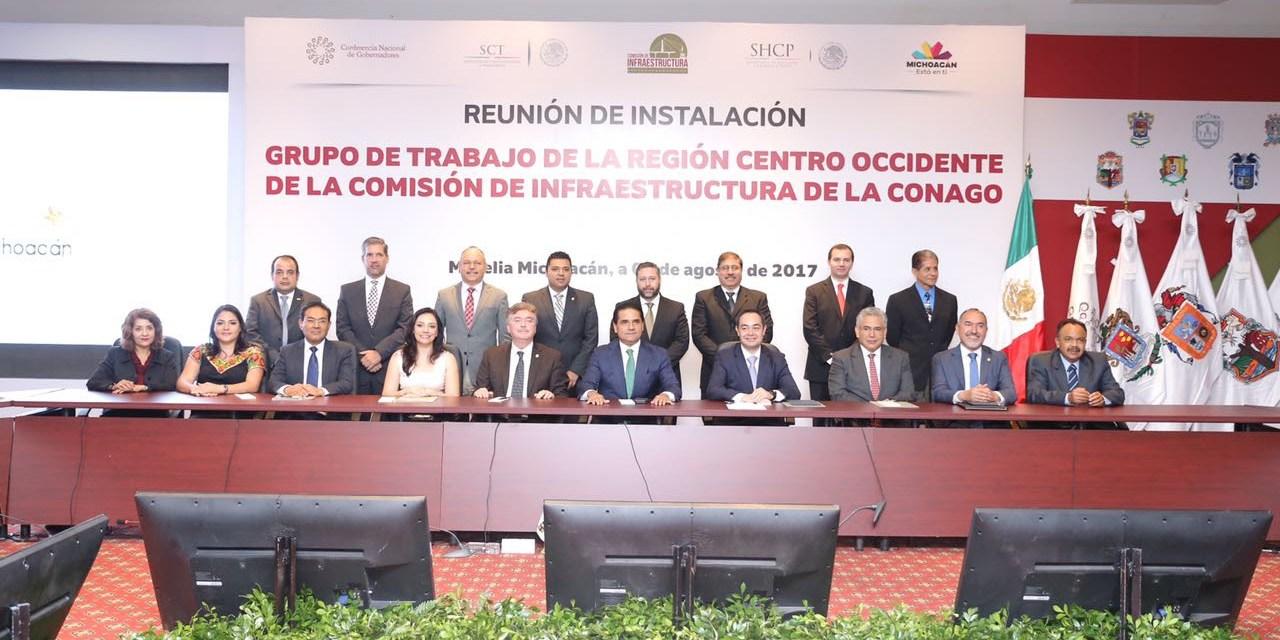 Instala Silvano Aureoles grupo de trabajo de Comisión de Infraestructura de la región Centro – Occidente de Conago