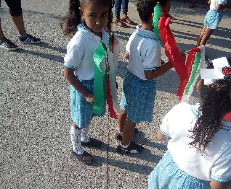 Niños de preescolar conmemoraron revolución mexicana con desfile