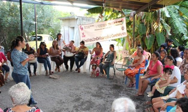 Red de Mujeres por la Paz promueve en colonias el respeto a las mujeres