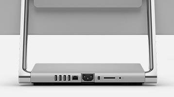 Die Anschlüsse des Surface Studio