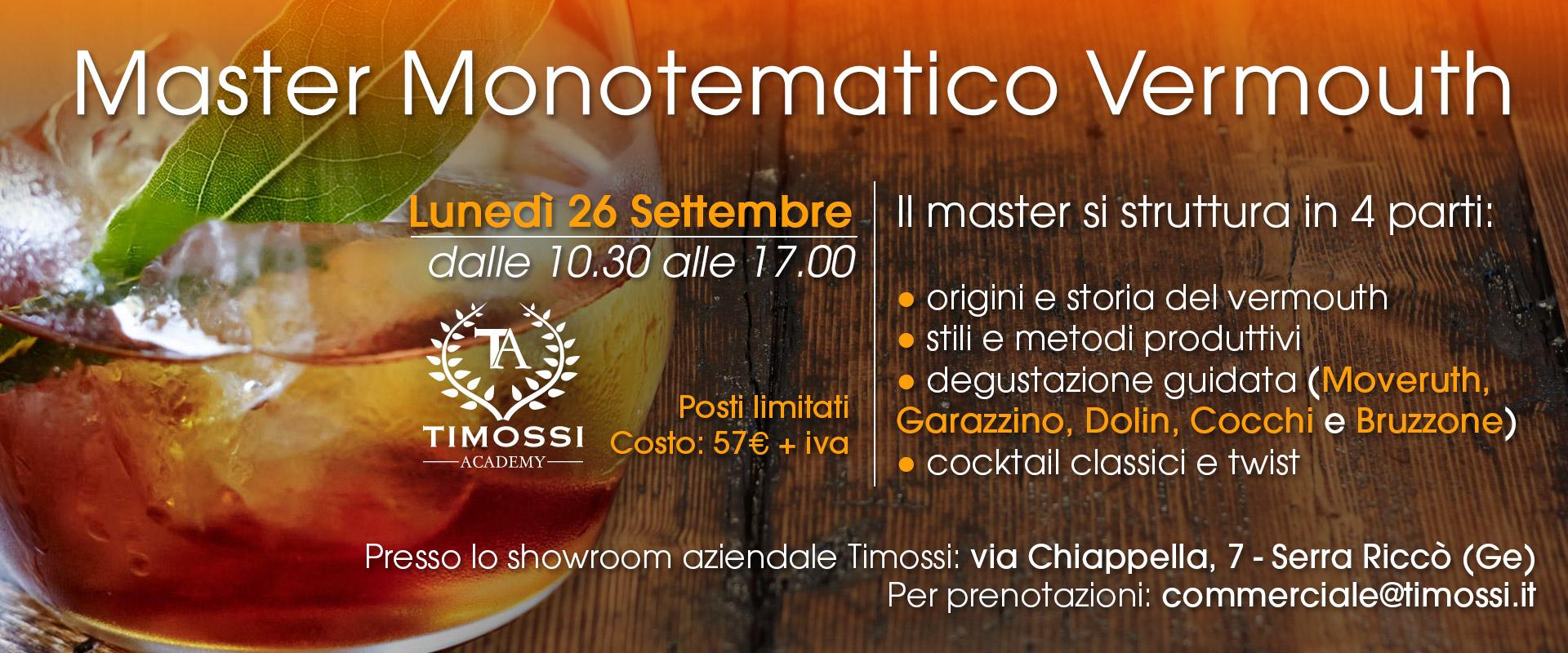 26 Settembre 2016 – Master Monotematico Vermouth