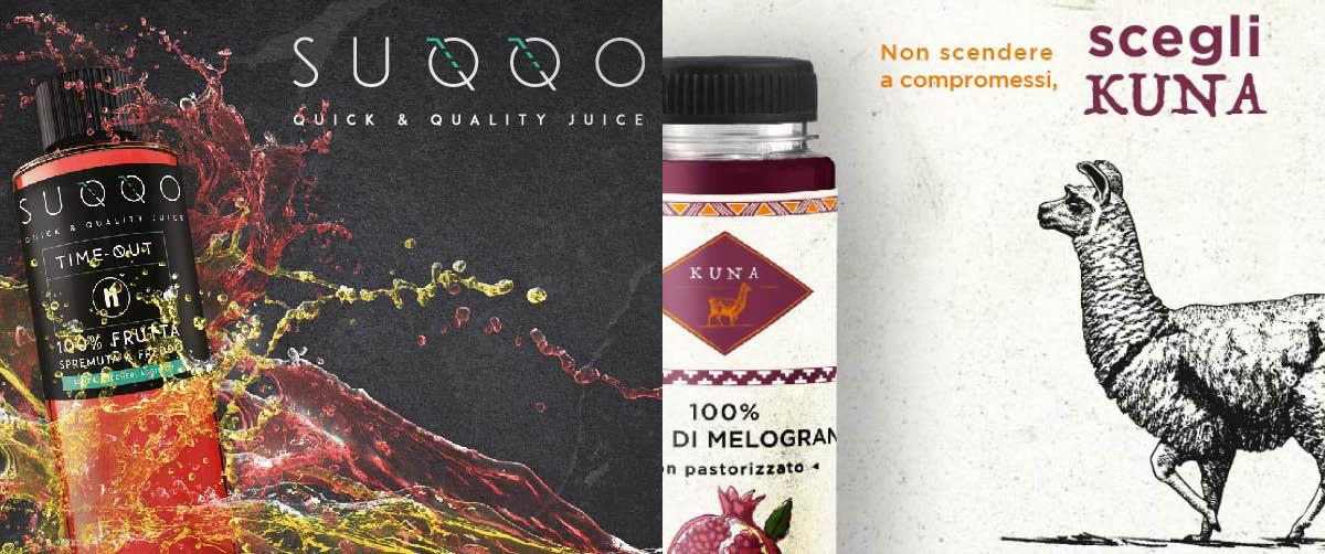 SUQQO e KUNA: la rivoluzione dei succhi 100% frutta