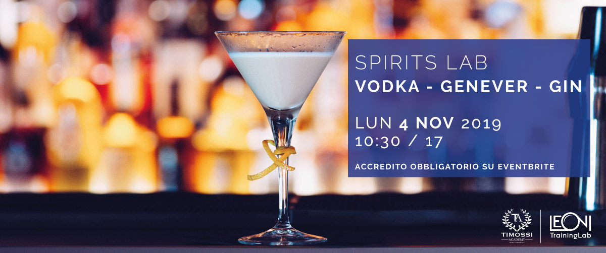 4 Nov 2019 – Spirits Lab // Vodka – Genever – Gin