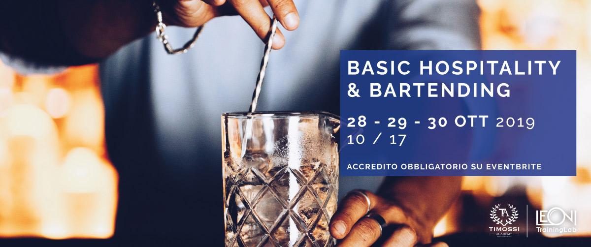 28/29/30 Ott 2019 – Basic Hospitality e Bartending