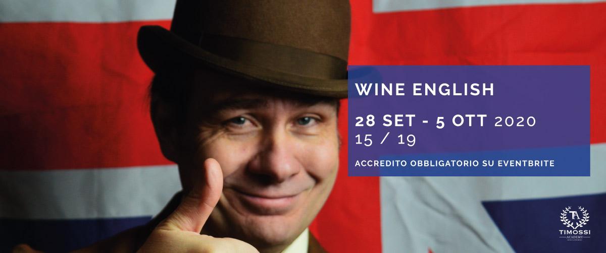 28 Set / 5 Ott – Wine English