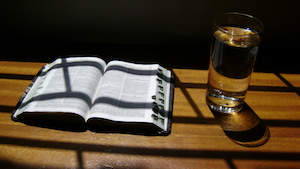Bible in the shadow
