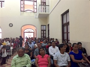 Part of the crowd at Centro Histórico