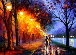 romantic walk painting