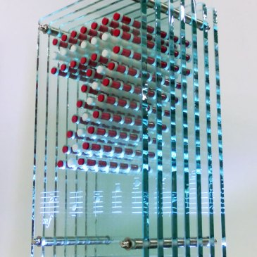 Glass Acrylic Light Sculpture Bruckner
