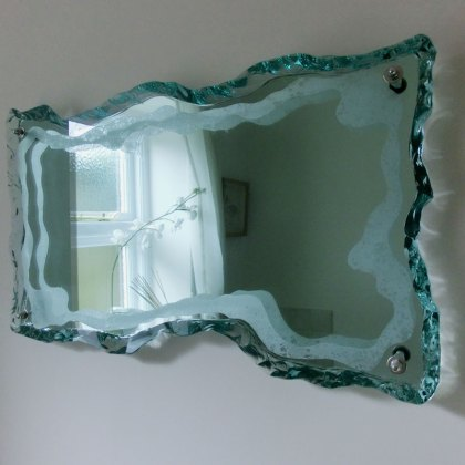 Mirror Decorative Glass Sculpture Tim Carter