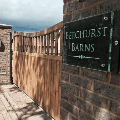 Contemporary House Sign Glass Beechurst Barns Tim Carter