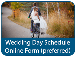Wedding Day Schedule Online Form