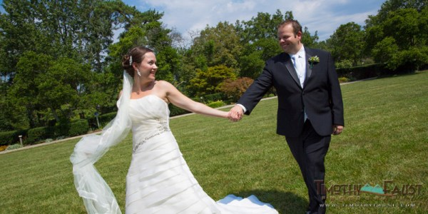 Bride and Groom at Ault Park, Cincinnati, Ohio