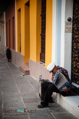 Accordion Player in Old San Juan