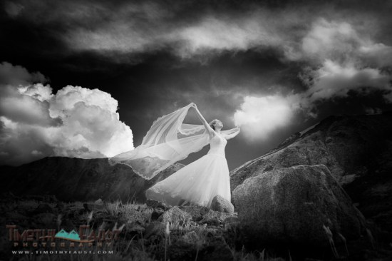 Infrared Image of Bride at Arapahoe Basin