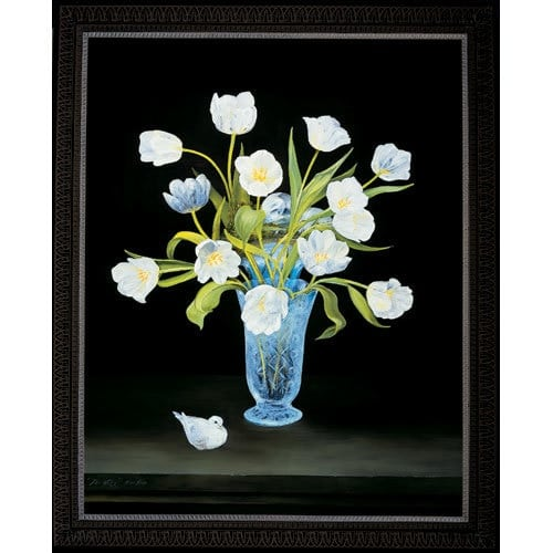 Dove White Tulips - Framed
