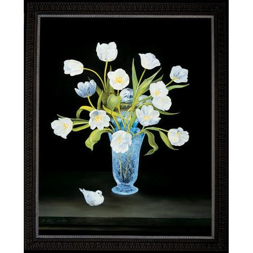 Dove White Tulips - Framed