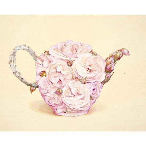 Pink Rose Teapot