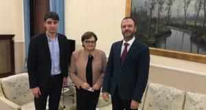 Veaceslav Şarameţ, alături de prefectul localității Catanzaro, Luisa Latella