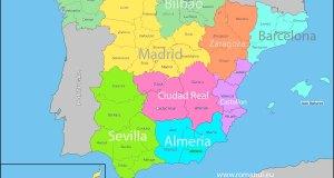 Repartizarea provinciilor spaniole în funcție de aria de acoperire a consulatelor